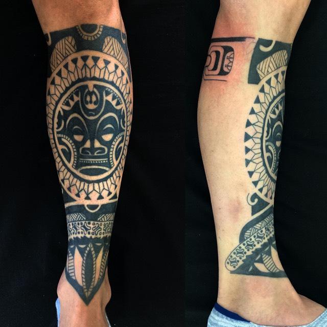 ポリネシアンタトゥーのワンポイントTattoo(タトゥー)の画像