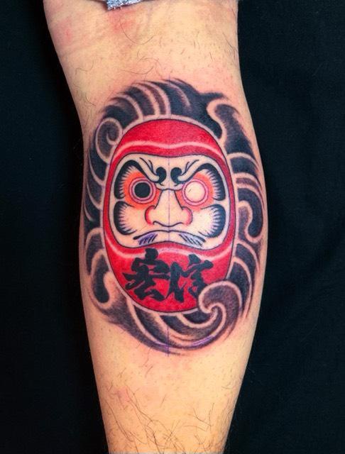 達磨(逆眼)のワンポイントTattoo(タトゥー)の画像