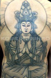 勢至菩薩の刺青、和彫り(Japanese Tattoo)画像