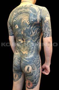 公孫勝と龍の刺青、和彫り(Japanese Tattoo)画像