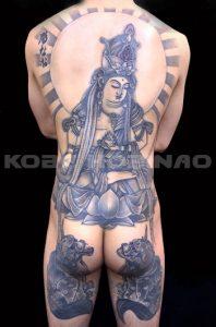 虚空蔵菩薩の刺青、和彫り(Japanese Tattoo)画像