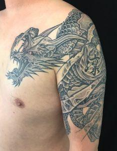 龍と珠の刺青、和彫り(Japanese Tattoo)の画像です。