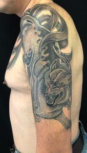 九尾の狐の刺青、和彫り(Japanese Tattoo)の画像です。