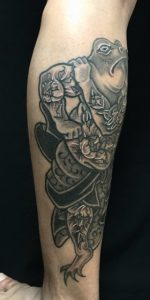 狂画・蛙 (花和尚魯智深)の刺青、和彫り(Japanese Tattoo)の画像です。