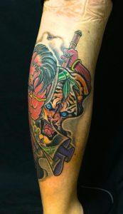 酒呑童子の刺青、和彫り(Japanese Tattoo)の画像です。