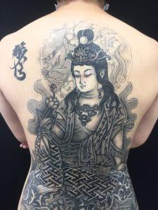 普賢菩薩 ※カバーアップの刺青、和彫り(Japanese Tattoo)の画像